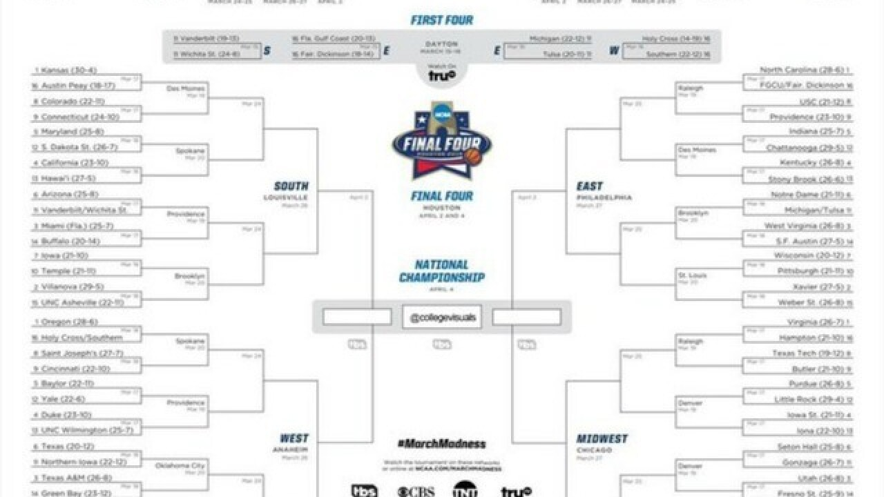 Download NCAA bracket, tips to fill it out