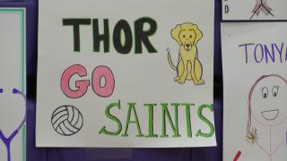 Carroll Volleyball showcases heartfelt, 2-D fans for Frontier Season