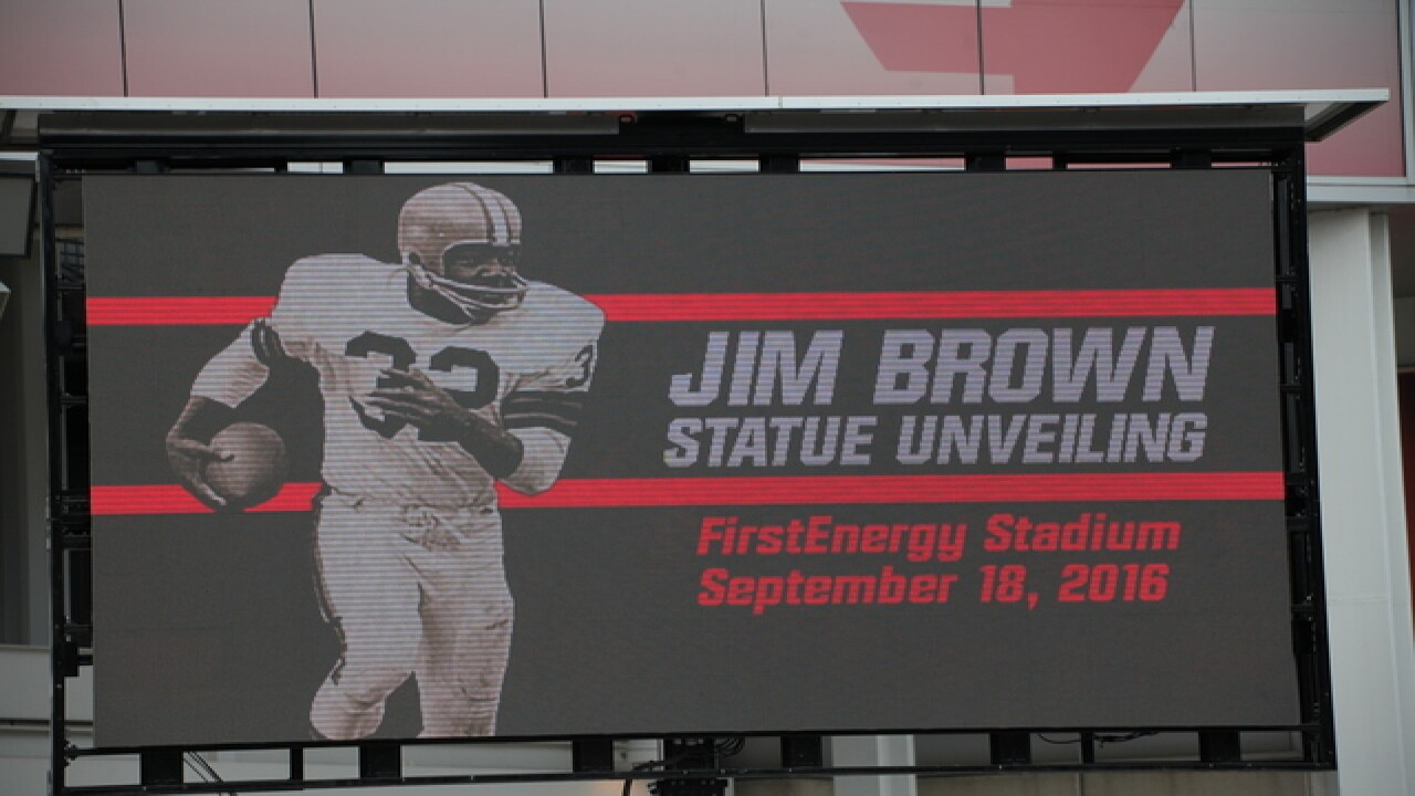 Jim Brown Statue Unveiling