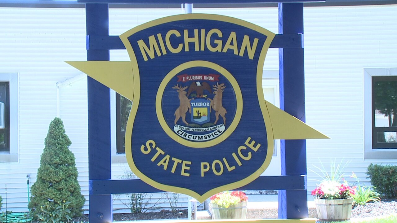Michigan State Police Logo - Window of MSP Post