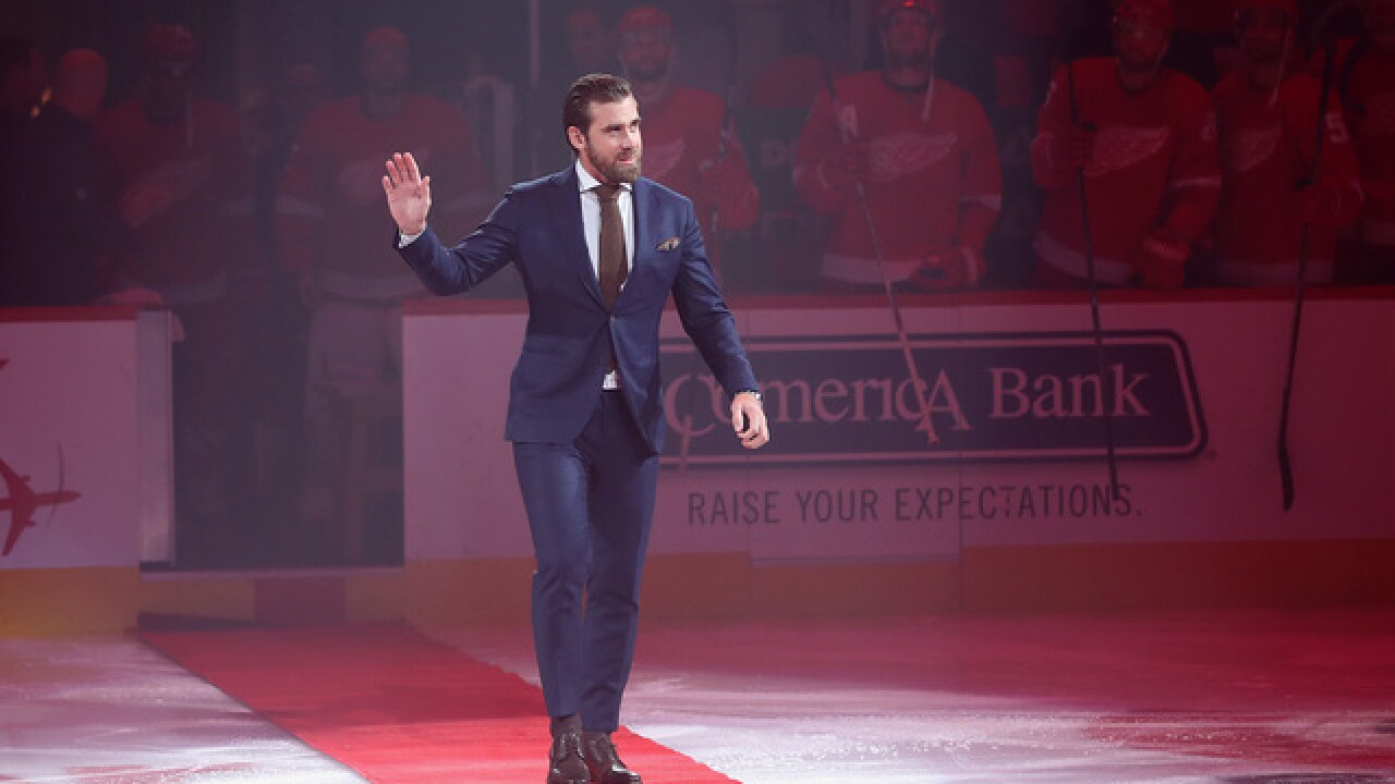 WATCH: Henrik Zetterberg drops puck as era of Red Wings ends