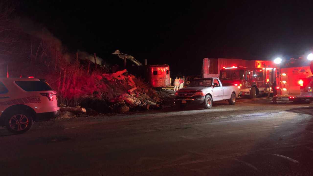 Brown county scrap yard fire