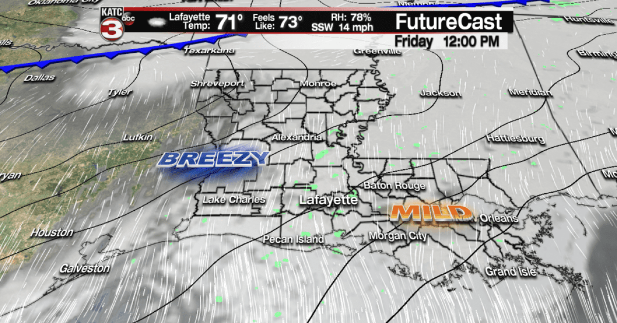 Milder, lots of clouds into the weekend