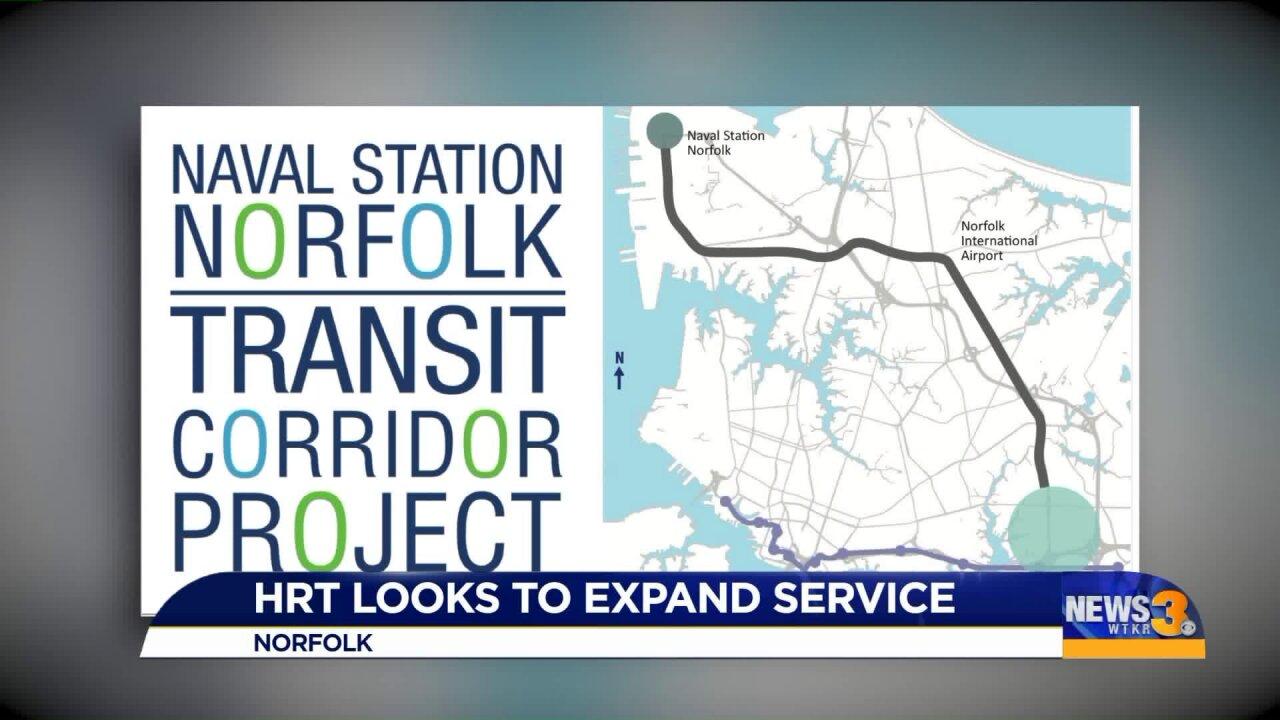 HRT to study adding new bus or light rail service throughoutNorfolk