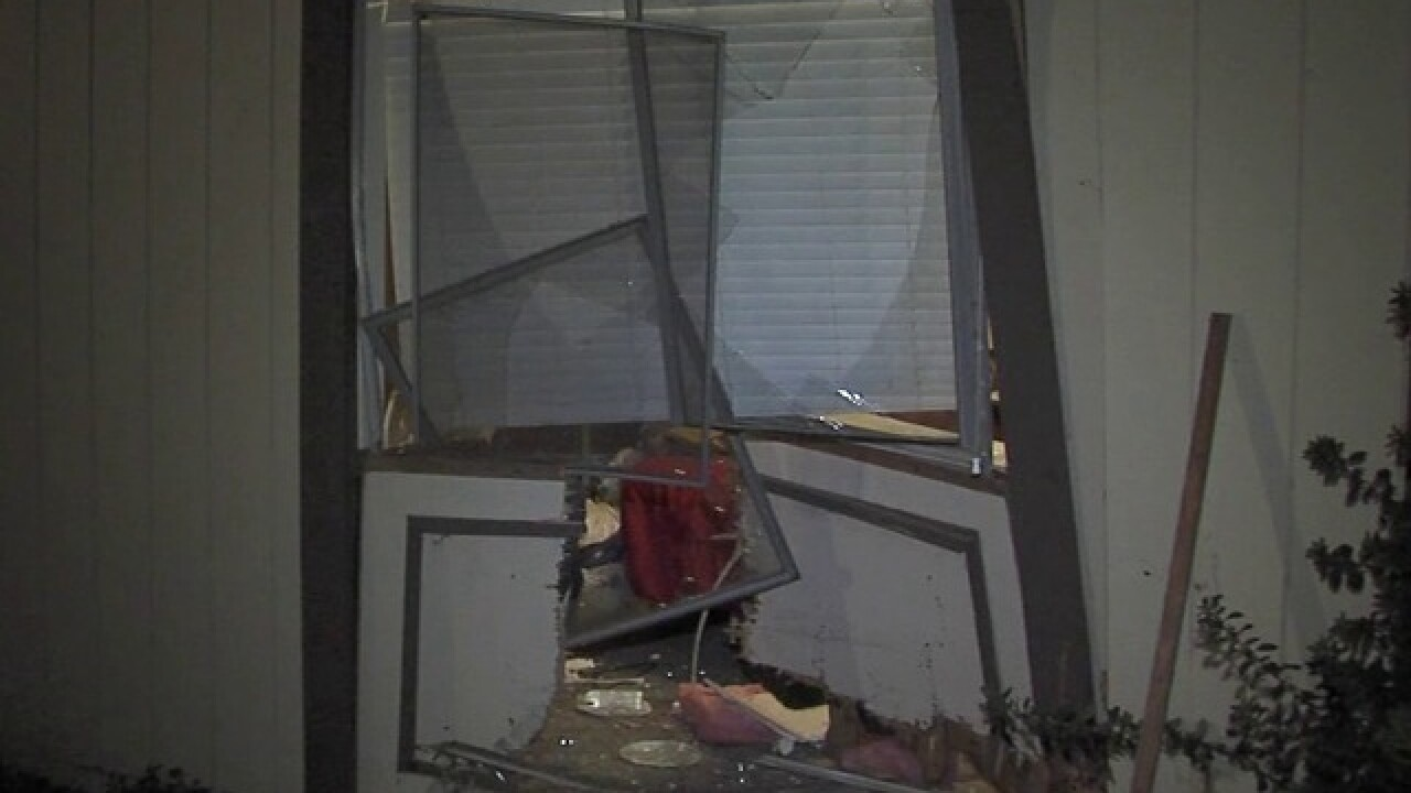 Truck plows into couple's Spring Valley bedroom