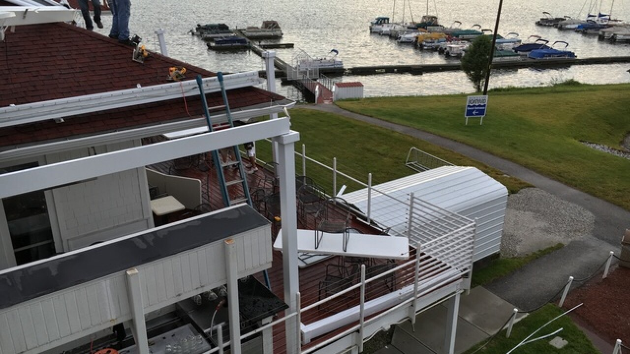 PHOTOS: Damage at Rick's Boatyard