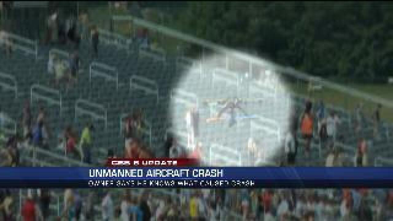 Owner knows why drone crashed into stands at bull run