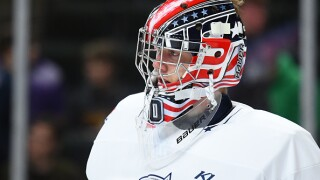 Spencer Knight eyes hockey history as American-born goaltender