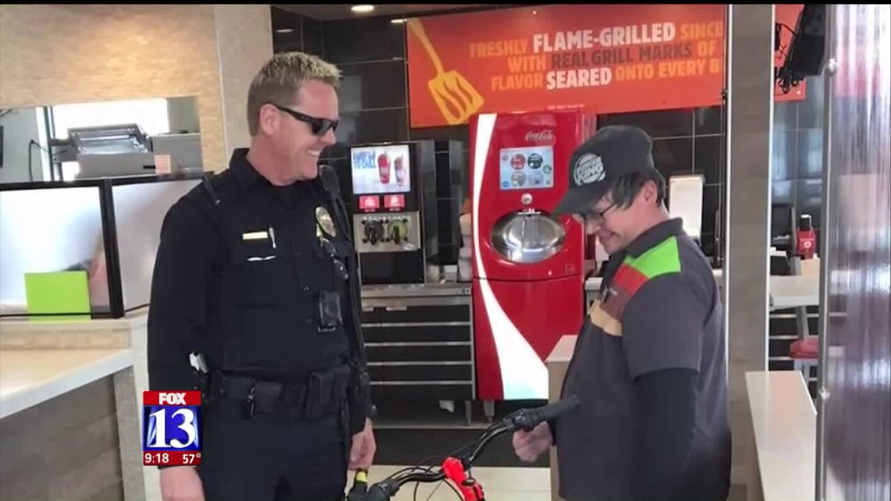 Utah cop replaces bike stolen from man with special needs