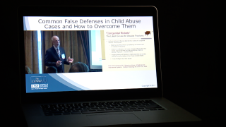 Florida's top child abuse pediatrician, Dr. Bruce McIntosh, at a 2017 DCF training session.