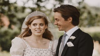 Princess Beatrice Just Got Married Wearing A Dress Borrowed From Her Grandmother, Queen Elizabeth