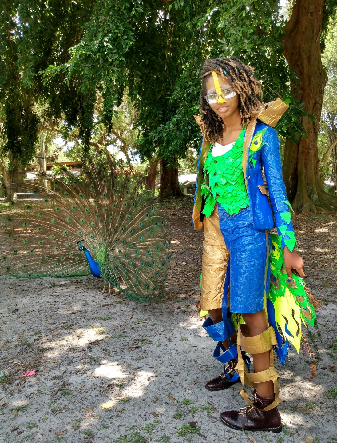 A Boca Raton teen is a finalist in a contest where her duct tape outfit could score her a $10,000 scholarship.
