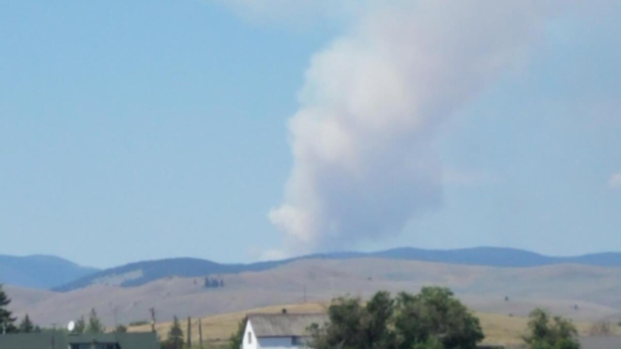 Large air tanker ordered wildfire near Nevada Mountain