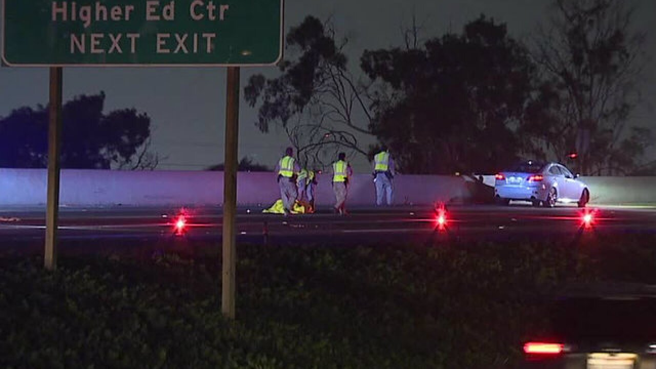 Man running on I-5 in National City hit, killed by vehicle