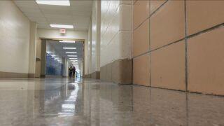 Hallway of a school.
