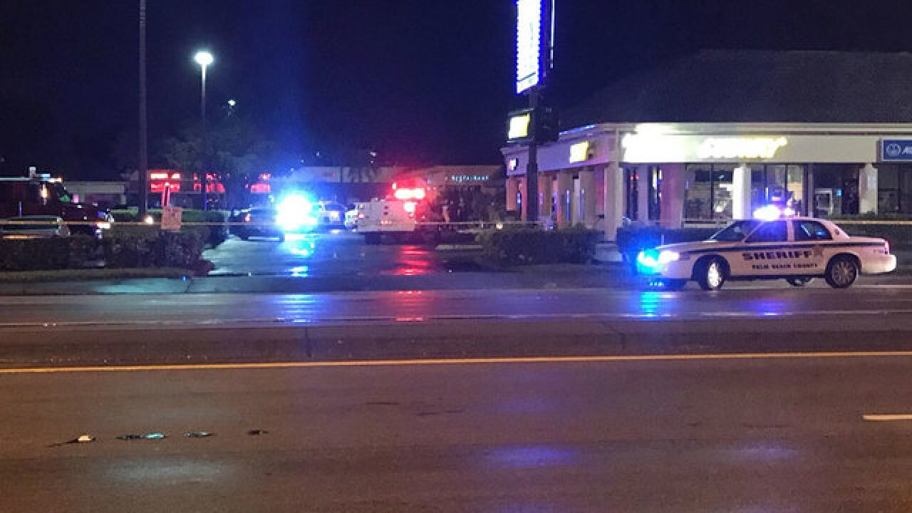 PBSO investigating shooting at shopping plaza