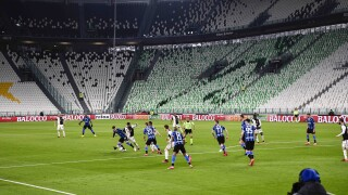 Italian soccer teams play match in closed stadium amid coronavirus outbreak