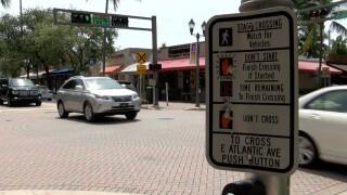 Atlantic Avenue in Delray Beach, Florida.