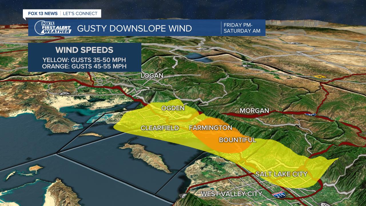 Gusty Wind Zones March 12, 2020