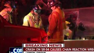 crash on sr-94 causes chain reaction wreck