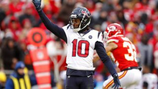 DeAndre Hopkins is ready for his mid-career move to Arizona. The Cardinals pulled a stunner during the offseason when they landed Hopkins in a trade with the Houston Texans. Photo/AP.