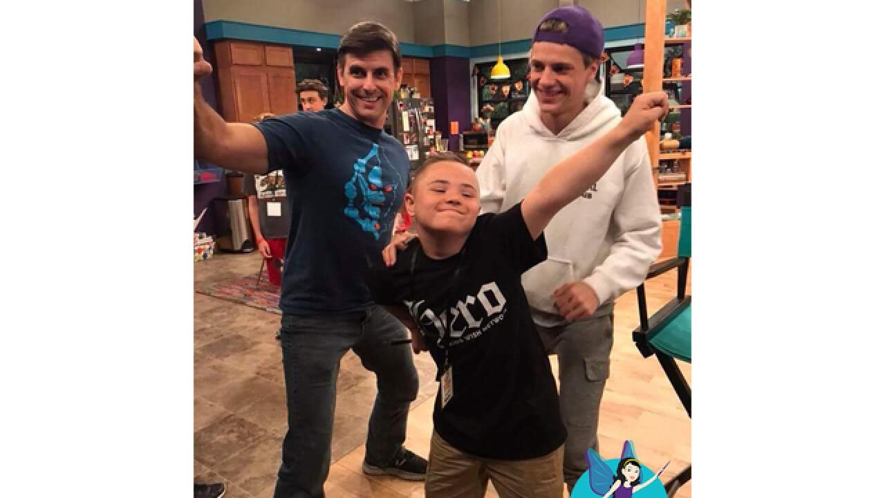 Detroit Wish Kid visits set, cast of Nickelodeon's 'Henry Danger'