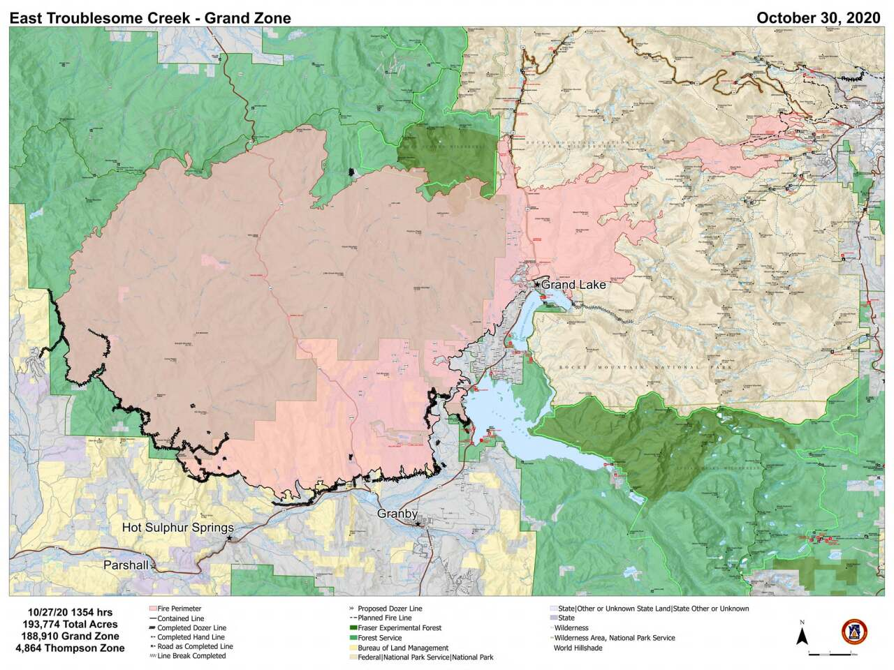 East Troublesome Fire containment map_Oct 30 2020