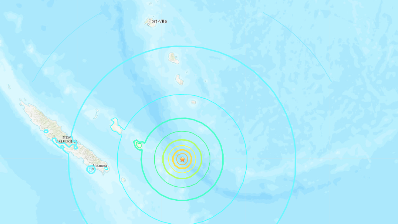 New Caledonia earthquake