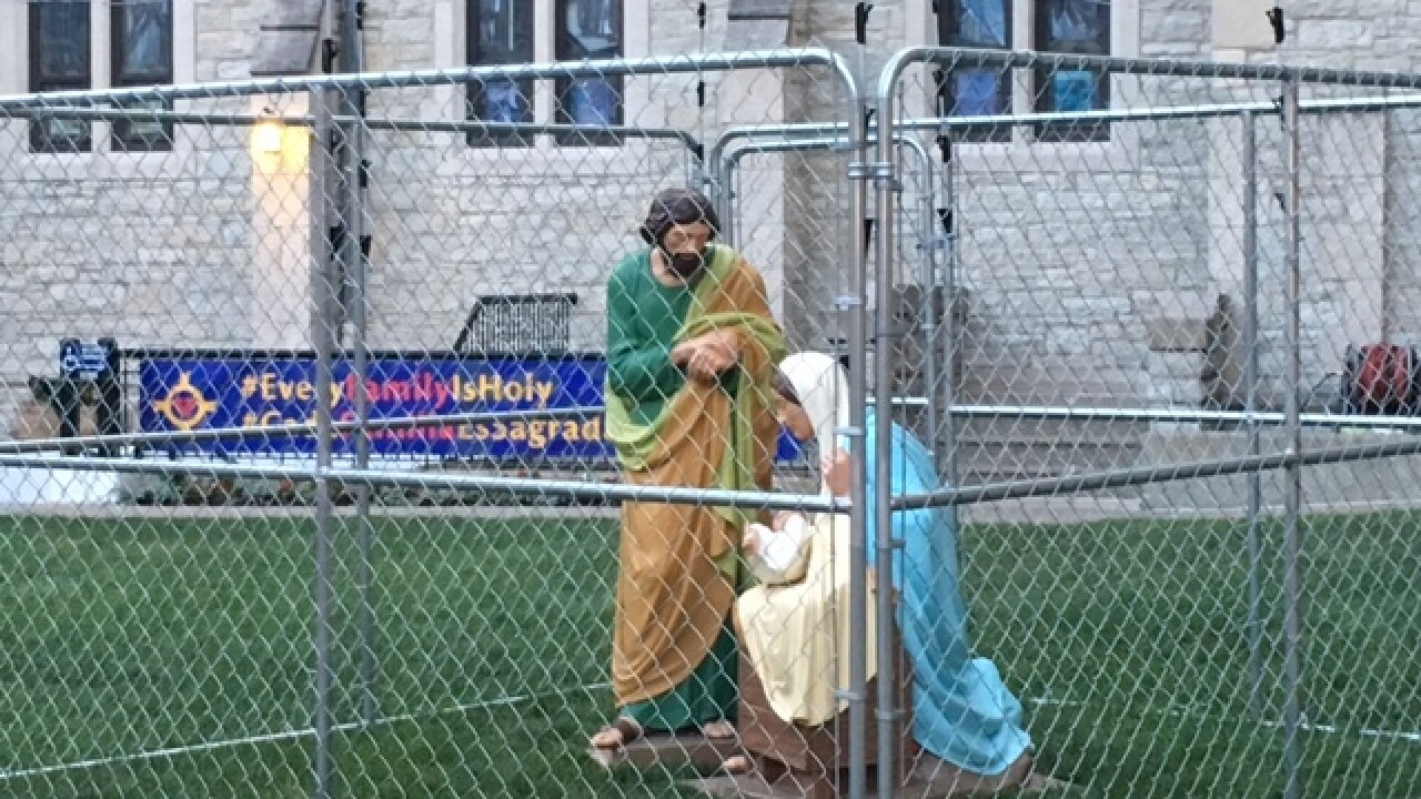 Church locks Jesus up to fight immigration rules