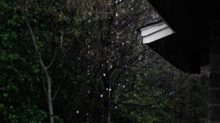 File image of rain off a gutter.