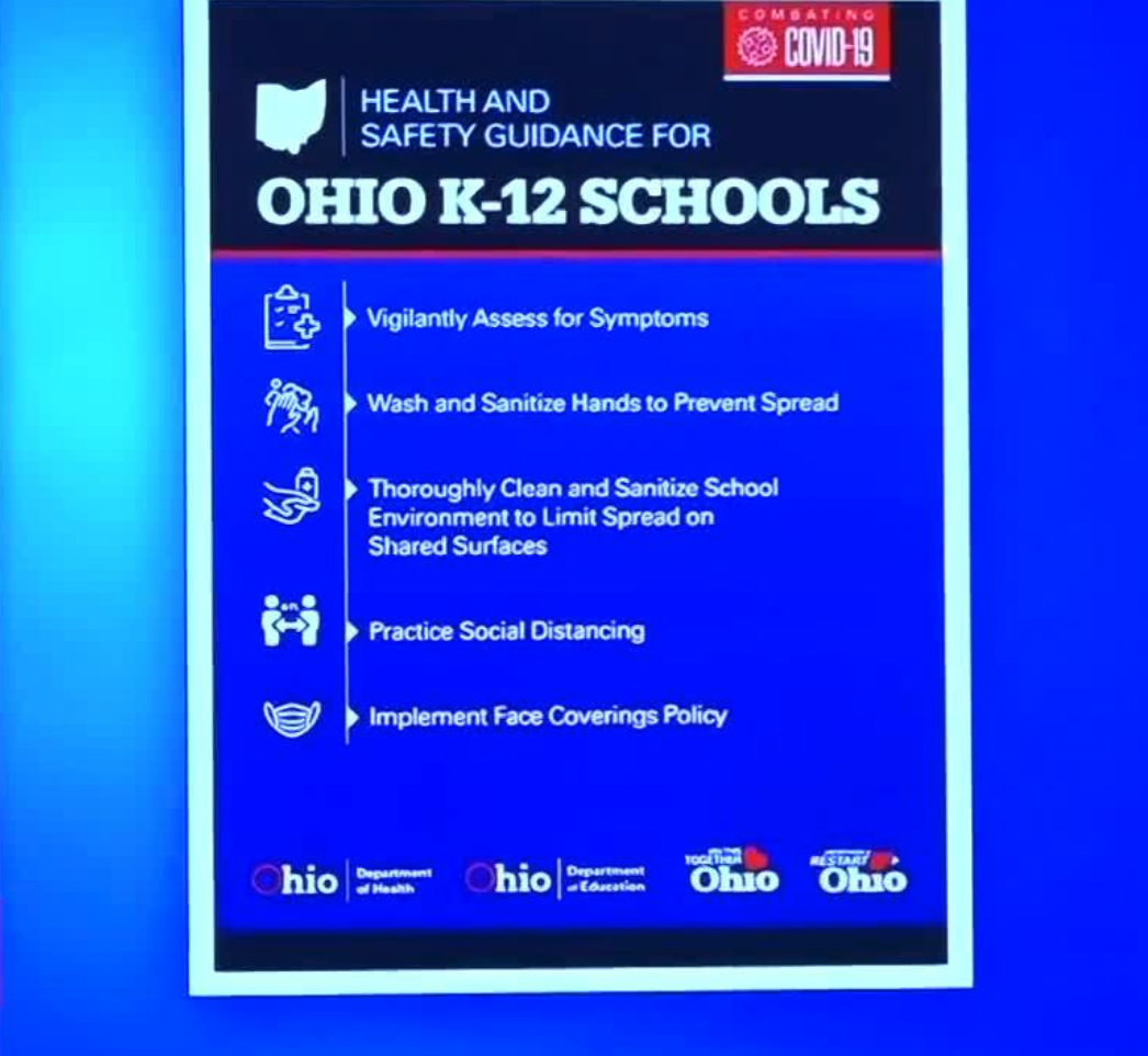 Gov Mike Dewine Announces Guidelines For K 12 Schools In Ohio To Reopen