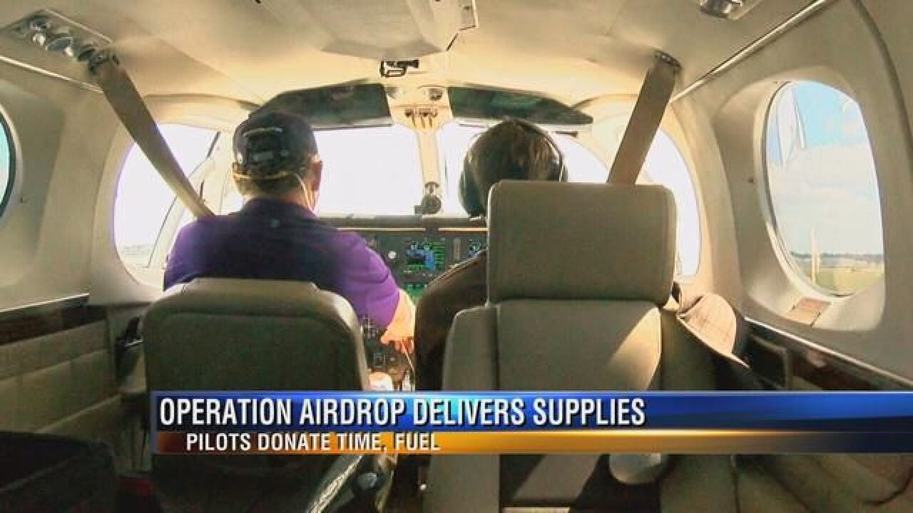 Pilots carry supplies to Florida areas ravaged by Irma