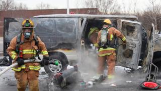 Howard County van fire