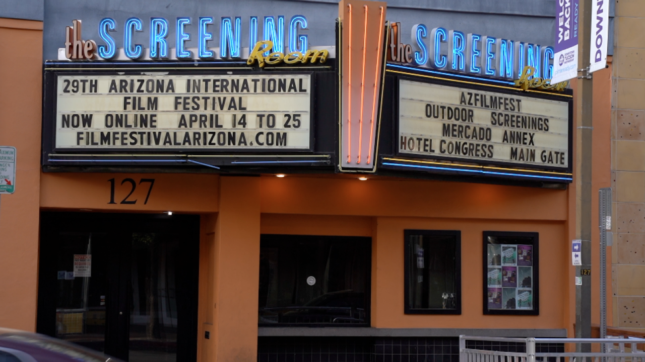 The Screening Room sign