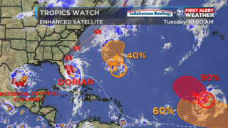 Potential Tropical Cyclone 7 develops in Gulf of Mexico