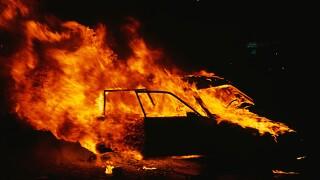 Easton man sets own car ablaze, fire officials said