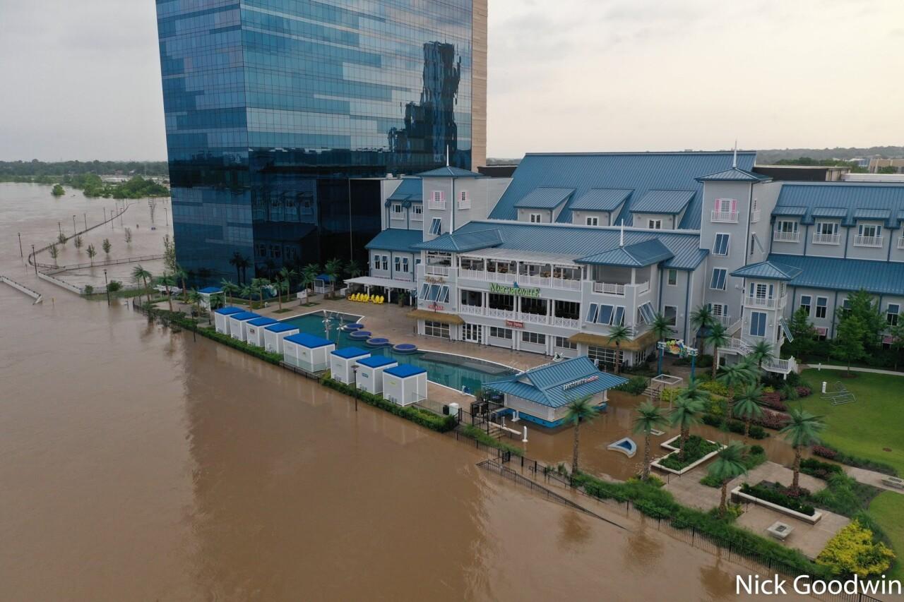 River Spirit Casino flooding