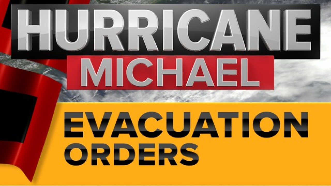 Evacuation orders ahead of Hurricane Michael