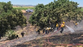 Firefighters extinguish small fire in Santa Ynez Valley