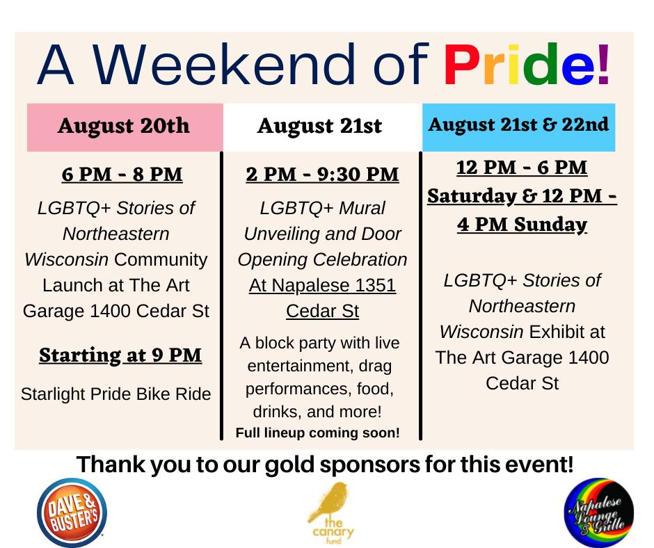 Weekend of Pride Green Bay