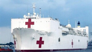 USNS Comfort deploying Wednesday