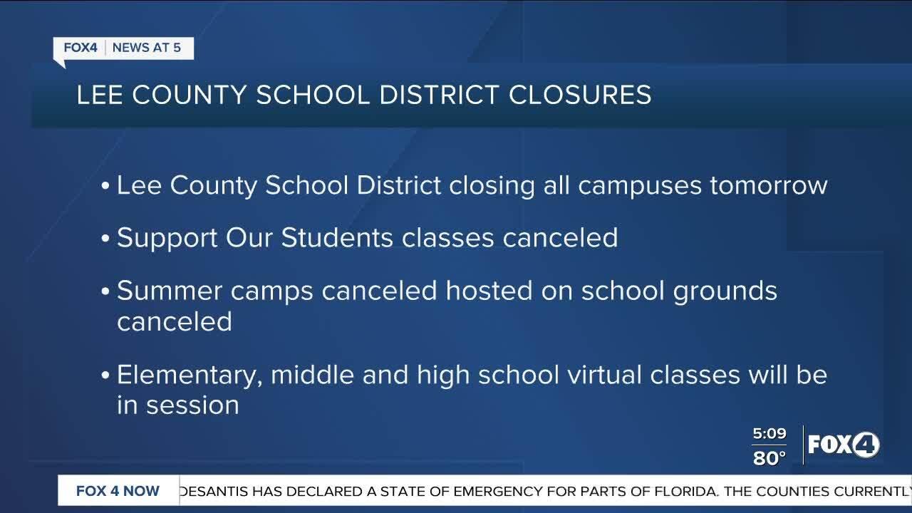 Lee County School Closings