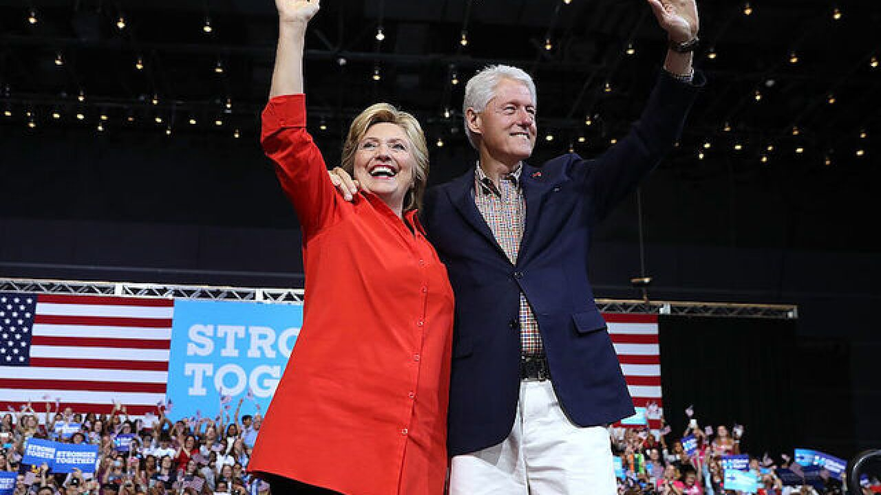 The Clintons launch paid speaking tour with plenty of ire for Trump