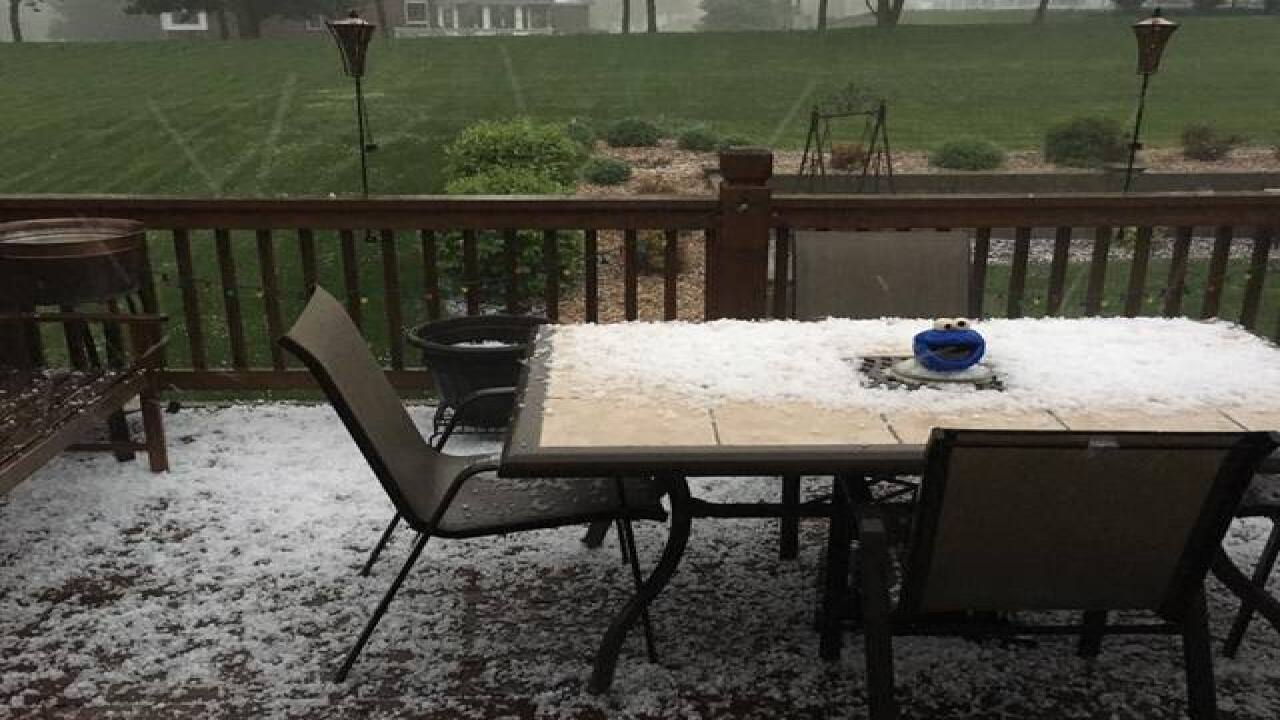 Severe thunderstorms bring hail to KC metro