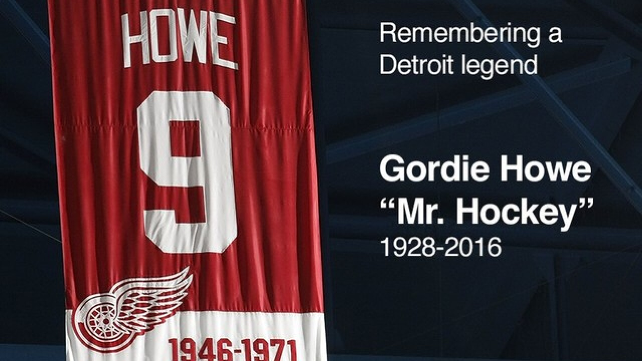 Gordie Howe's visitation at the Joe today