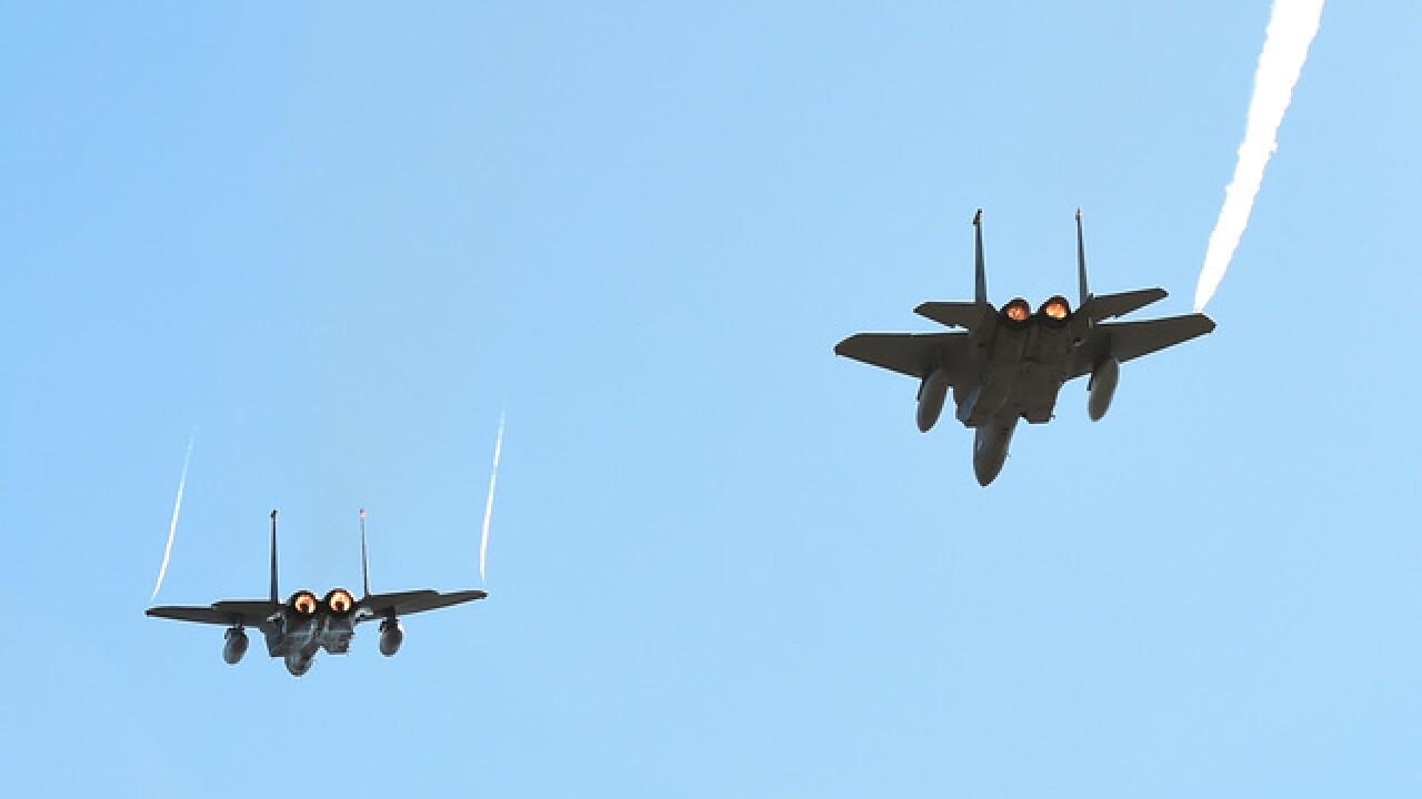 F-15s roar over Denver; flights labeled routine