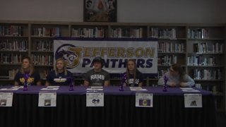 Five Jefferson athletes sign to continue careers at next level