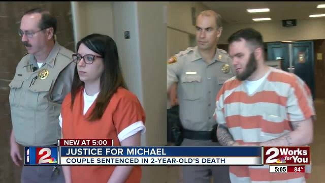 2 sentenced to prison for death of 2-year-old