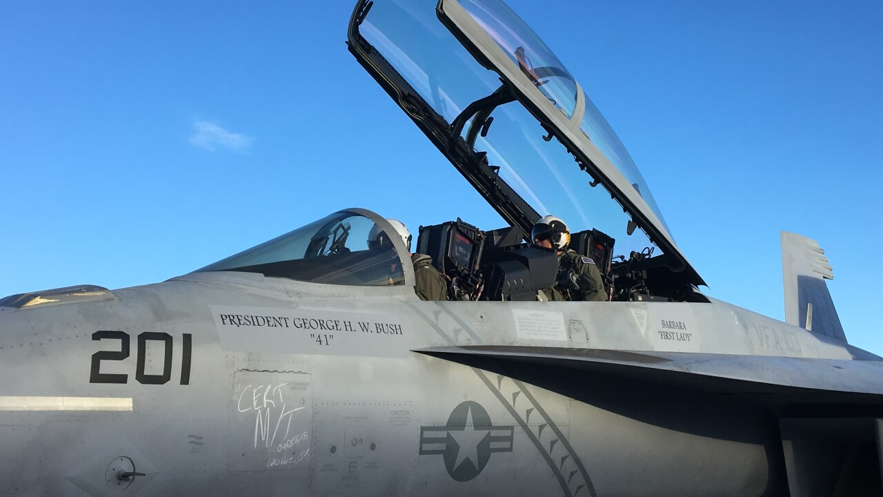 Jets from NAS Oceana in Virginia Beach head to Texas to honor George H.W.Bush