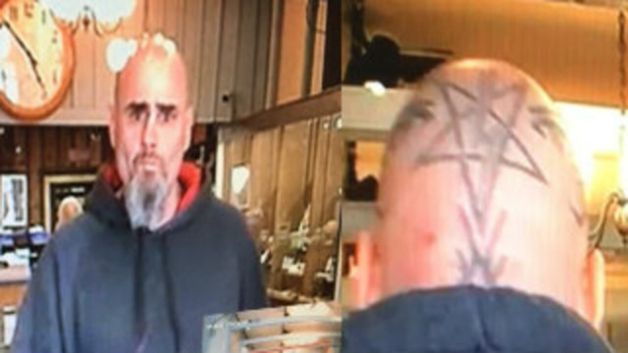 Caldwell Jewelry Store Robbed By Man With A Pentagram Head Tattoo